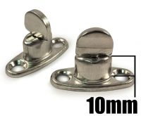 10x 10mm Standard 2 Hole Base Turnbutton Common Sense Boat Canopy Cover Fastener